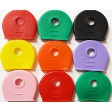Шляпка для ключей цветная (резина)