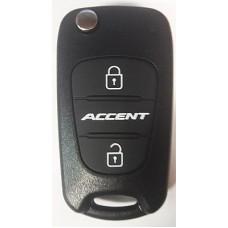 HYUNDAI Accent выкидной ключ перфо без платы и чипа (3 кнопки)