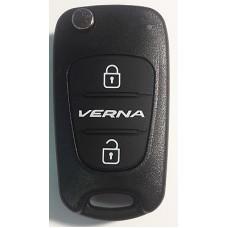 HYUNDAI Verna выкидной ключ перфо без платы и чипа (3 кнопки)