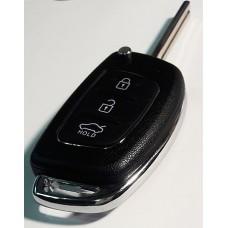HYUNDAI выкидной ключ перфо без платы и чипа (3 кнопки)