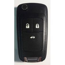 CHEVROLET выкидной ключ перфо без платы и чипа (3 кнопки)